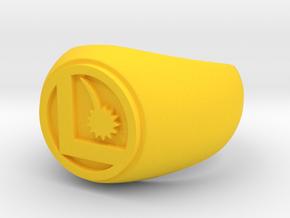 Legion Flight Ring in Yellow Processed Versatile Plastic