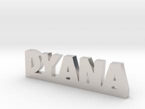 DYANA Lucky in Rhodium Plated Brass