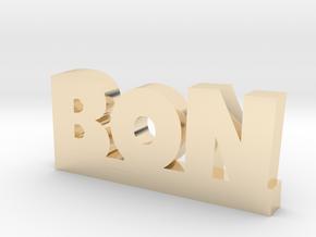 BON Lucky in 14k Gold Plated Brass