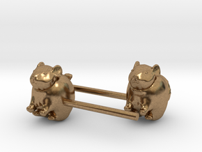 Chinchilla Earrings in Natural Brass
