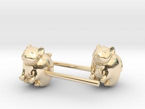 Chinchilla Earrings in 14K Yellow Gold
