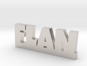 FLAN Lucky in Rhodium Plated Brass