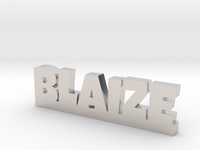 BLAIZE Lucky in Rhodium Plated Brass