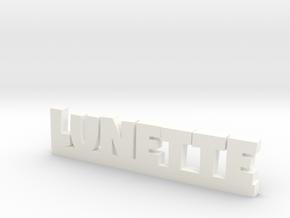 LUNETTE Lucky in White Processed Versatile Plastic