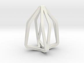 House Line Pendant in White Natural Versatile Plastic