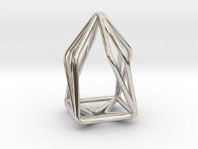 House Enmotion Pendant in Rhodium Plated Brass