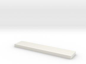 Holzpanel mit Metallfassung für Industriezaun in White Natural Versatile Plastic