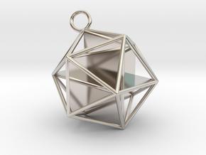 Golden Icosahedron Pendant in Platinum