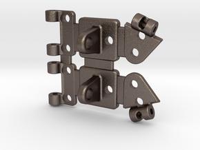 Raffee Land Rover Metal Hinge Kit in Polished Bronzed Silver Steel