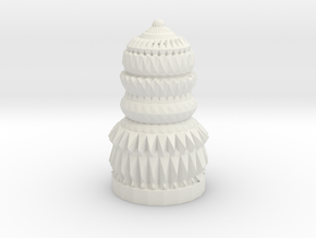 Assembled Chess Piece  in White Strong & Flexible