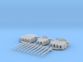 "1/570 HMS King George V 14"" Turrets 1941 in Smooth Fine Detail Plastic"