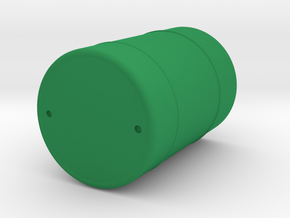 Metal Drum Barrel in Green Strong & Flexible Polished: 1:48 - O