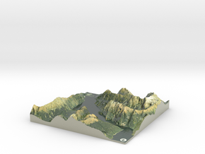 Milford Sound Map, New Zealand in Coated Full Color Sandstone