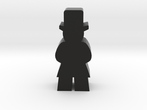 Game Piece, Man In Top Hat in Black Natural Versatile Plastic