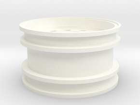 Rim004-00 Fuchs Style Stock Offset, MSize Wheel in White Processed Versatile Plastic