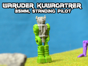 Waruder Kuwagatrer Pilot mini, standing (35mm) in White Natural Versatile Plastic
