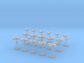 1-87 Cal 50 Modern Naval Mount Set1 in Smooth Fine Detail Plastic