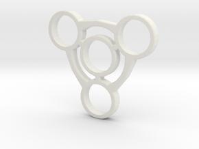 Fidget Spinner No.1  in White Strong & Flexible