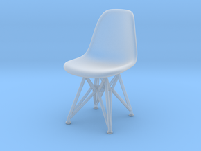 Miniature Eames Plastic DSR Chair - Charles Eames in Smooth Fine Detail Plastic