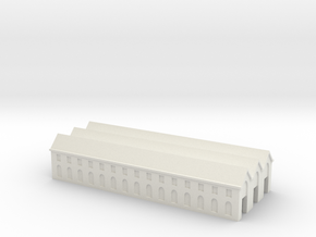 Cherbourg, Industrial Building in White Natural Versatile Plastic