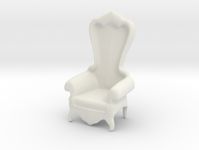 Printle Thing Baroque Chair 1/24 in White Natural Versatile Plastic