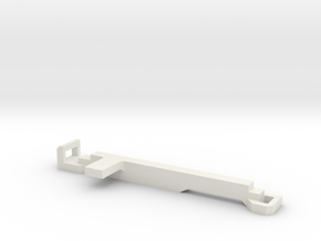 KMD-FR01 Left Battery Clip in White Natural Versatile Plastic
