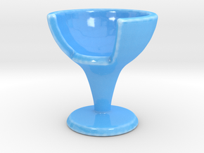 EGGCHAIR in Gloss Blue Porcelain