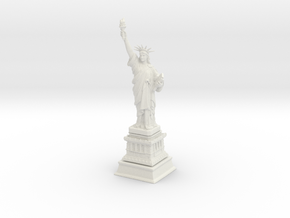 1/1000 Statute Of Liberty (3 parts) in White Strong & Flexible
