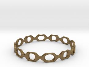 Bracelet D 2 Medium in Natural Bronze