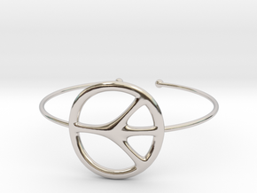 Peace Bracelet in Rhodium Plated Brass