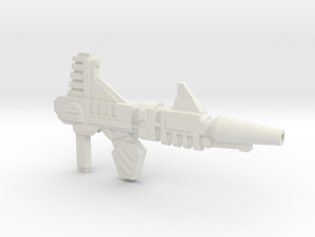 Blitz Blaster (5mm Peg) in White Natural Versatile Plastic