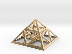 "Triforce Giza Pyramid 2"" in 14K Yellow Gold"