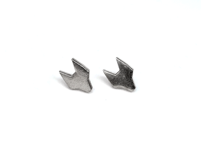 FOX Stud Earrings in Natural Silver