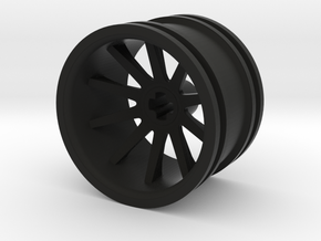 10 Spoke Wheel 30.4mm in Black Natural Versatile Plastic
