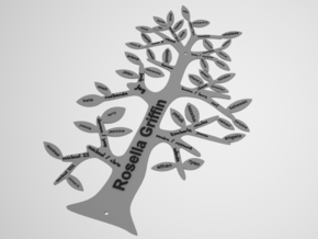 Family Tree Customizable in White Natural Versatile Plastic