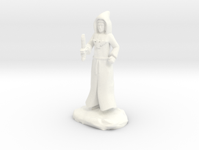 Dracandros, a human dragon cultist with Dagger in White Processed Versatile Plastic
