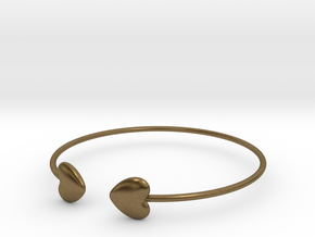 Everything heart bracelet in Natural Bronze