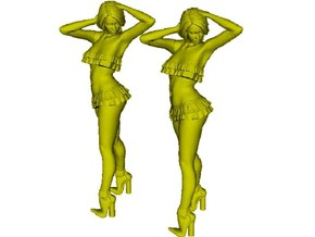 1/18 scale nose-art striptease dancer figure A x 2 in Smooth Fine Detail Plastic
