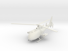 Aerospatiale SA-341M 'Gazelle' (with HOT ATGM) in White Natural Versatile Plastic: 1:100