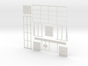 4 Stall Fettlers Shed (Type 1) in White Natural Versatile Plastic: 1:64 - S