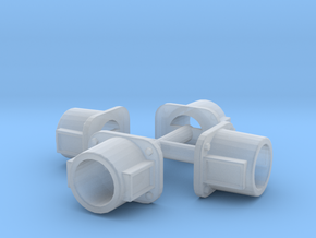 N Scale Kato NW2 repl. Std, Headlight Housing 4 PK in Smoothest Fine Detail Plastic