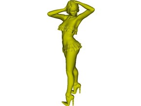 1/50 scale nose-art striptease dancer figure A x 1 in Smoothest Fine Detail Plastic