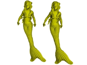 1/72 scale mermaid swimming figures x 2 in Smoothest Fine Detail Plastic