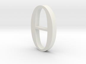 Greek Jewelry - Theta Pendant in White Natural Versatile Plastic