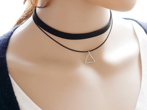 Triangle in Polished Silver