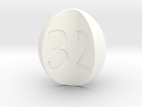 d3 apple slices (concave numbers) in White Strong & Flexible Polished