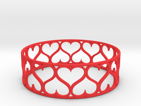 Love Bracelet XXL in Red Processed Versatile Plastic
