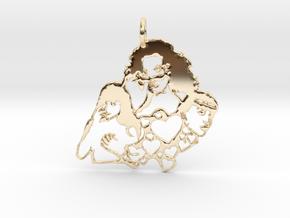 Katy Perry Fan Pendant in 14K Yellow Gold