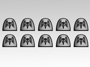 Raven Command 1 V.4 Shoulder Pads x10 in Frosted Extreme Detail