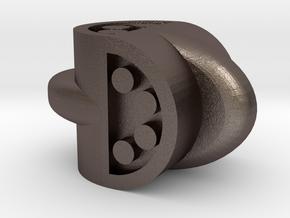 D4 Barrel-Lug in Polished Bronzed Silver Steel